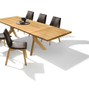 Tisch Yps in Eiche wild verlängert mit Auszug.