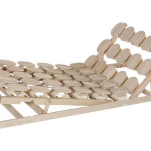 Schlafsystem Relax 2000 mit individueller Körperanpassung durch tellerförmige Federkörper aus Zirbenholz oder Buche. Mit Sitz-Fußhochstellung.