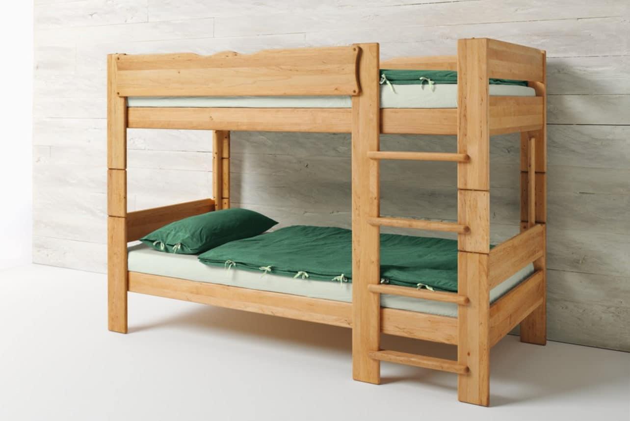 Naturholzmöbel Etagenbett : Hochbett und etagenbett jonas massive erle möbelschmiede