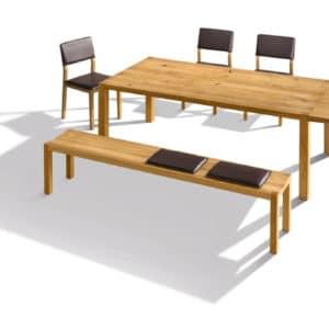 Loft Tisch mit Auszug mit Stuhl S1 in Eiche wild geölt.
