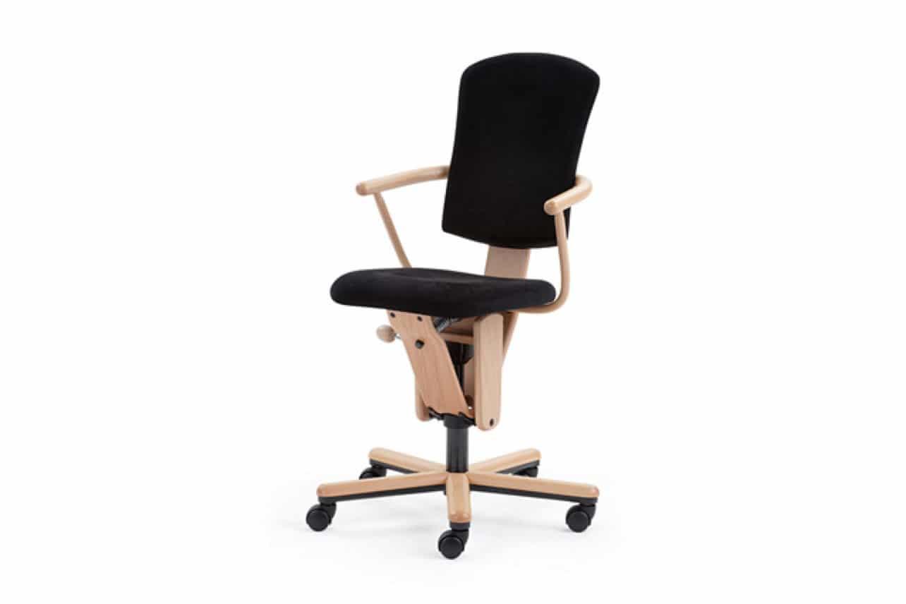 ergonomischer Bürostuhl M18 mit Armlehnen und gepolsterter hoher Rückenlehne